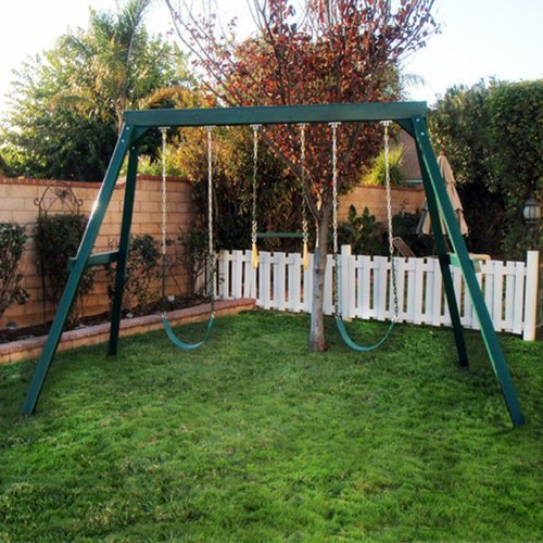 KidWise Brand 3 Position Wooden Swing Set