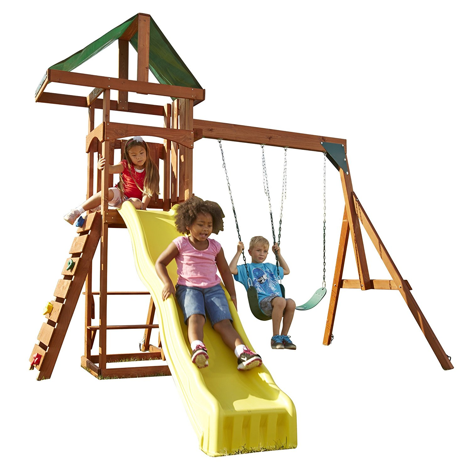 Swing-N-Slide Scrambler Playset With A Lifetime Warranty Against Cracks And Breaks