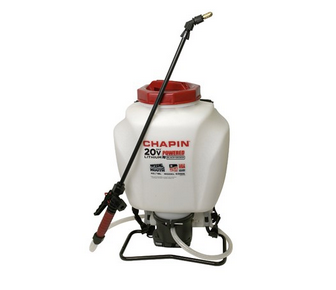 Chapin Wide Mouth Backpack Sprayer – Deluxe Padded Shoulder Straps, 20V Battery, 4-Gallon Tank, 3 Adjustable Nozzles