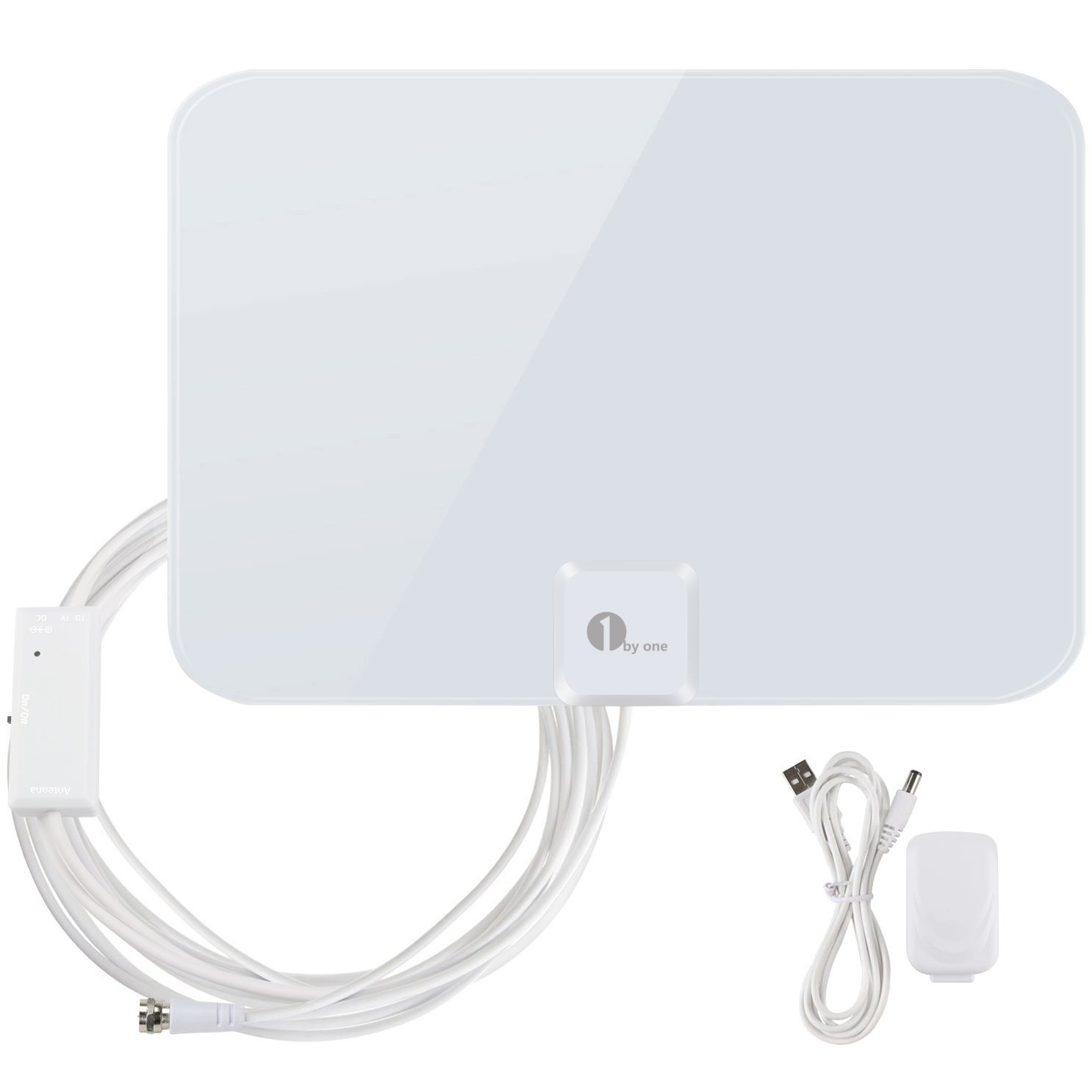 1byone White HDTV Amplified Antenna