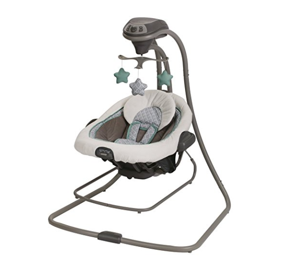 Graco DuetConnect Swing and Bouncer – Available in 5 Colors, Removable Swing Seat,