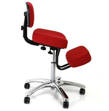 Jobri Chrome Deluxe Kneeling Chair – Available in 5 Colors, BifomPad Technology, Nylon Casters