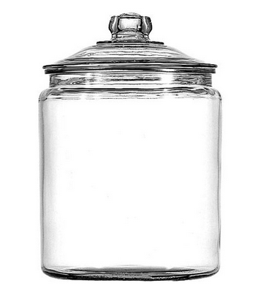 Anchor Hocking Heritage Hill Jar Glass Cookie Jar with Glass Lid – Available with Optional Chalkboard Front, Available in 6 Sizes, USA Made