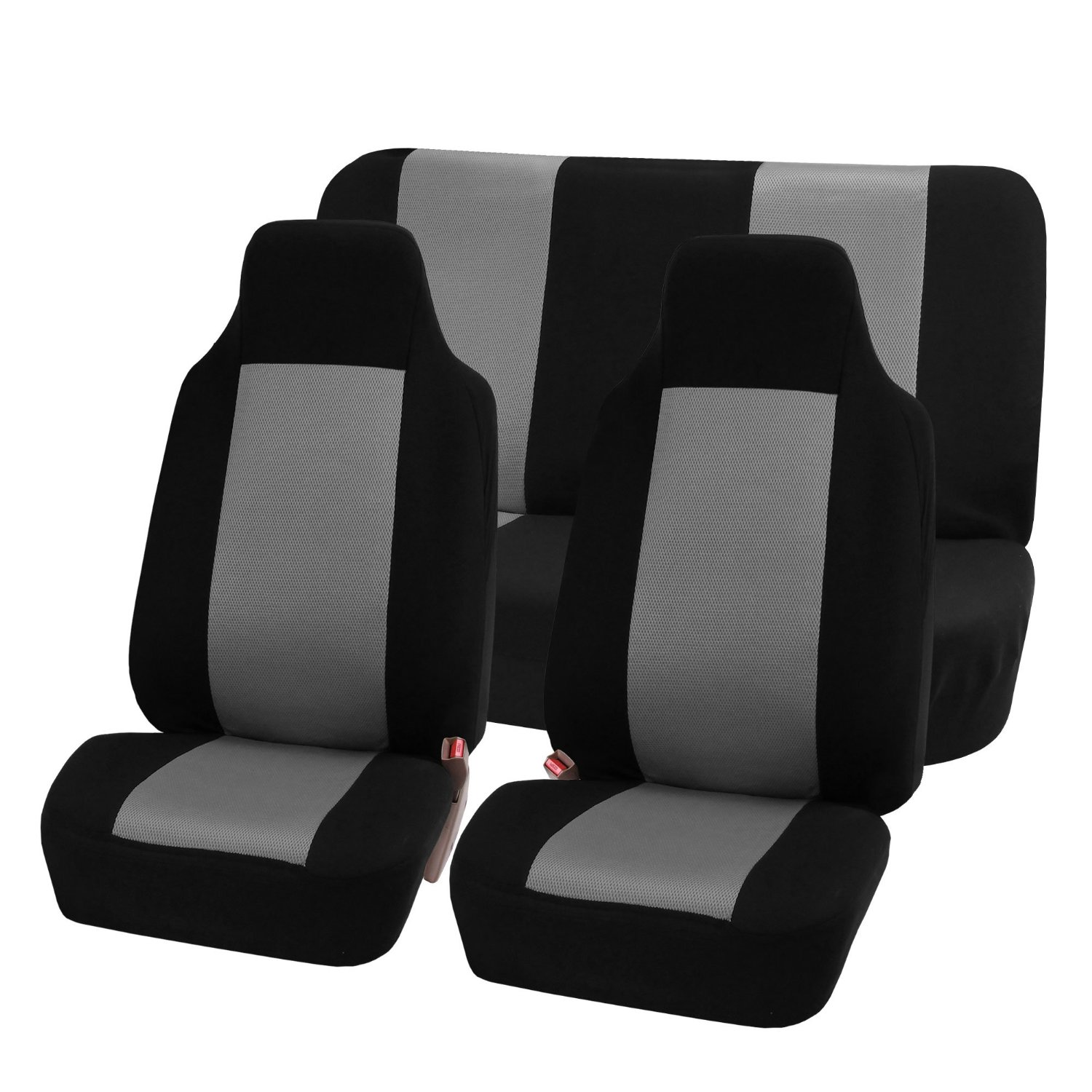 FH Group Flat Cloth Seat Covers - Full Set