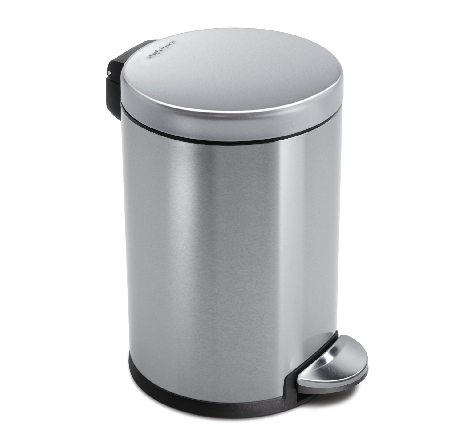 Simplehuman 4 5 L 1 2 Gal Mini Round Step Trash Can Stainless Steel Available Best Kitchen Sink