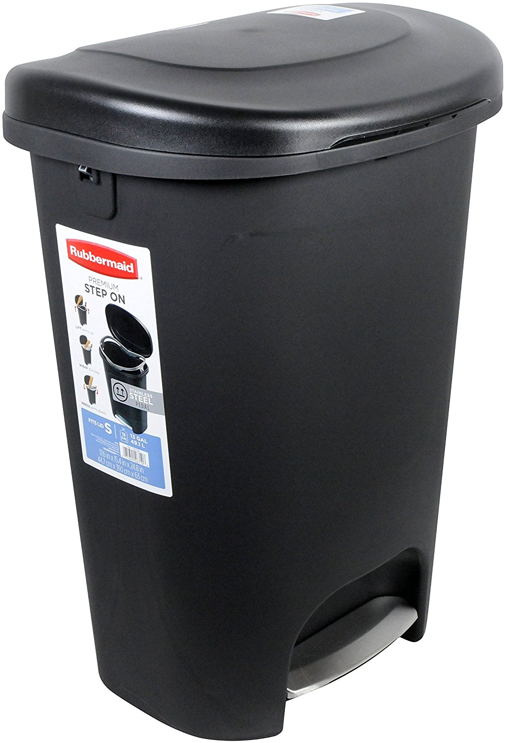 Rubbermaid Step-On Trash Can with Metal Accent Pedal