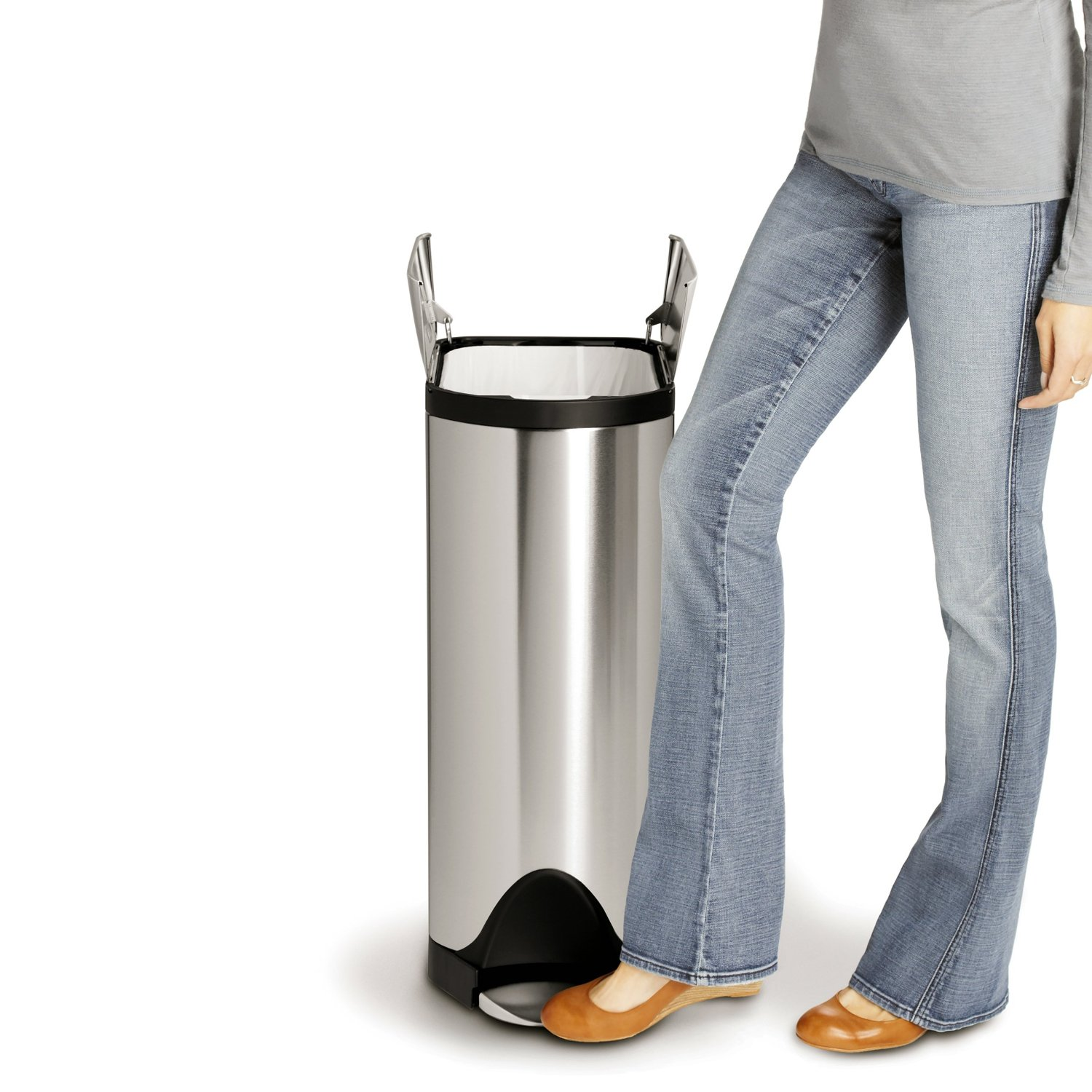 Simplehuman Butterfly Step Can for Kitchen, Office and More
