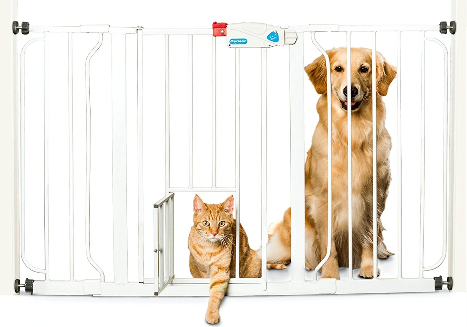 Carlson Expandable Pet Gate with Door for Smaller Pets