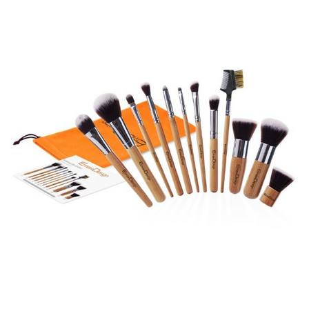 EmaxDesign Bamboo Makeup Brush Set