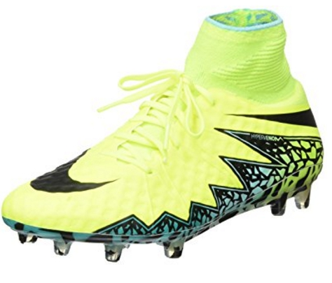 Nike Hypervenom Phantom II SG-PRO Anti-Clog Traction Soccer Cleats - Men's Volt/Black Hyper/Turq Clr Jade Shoes