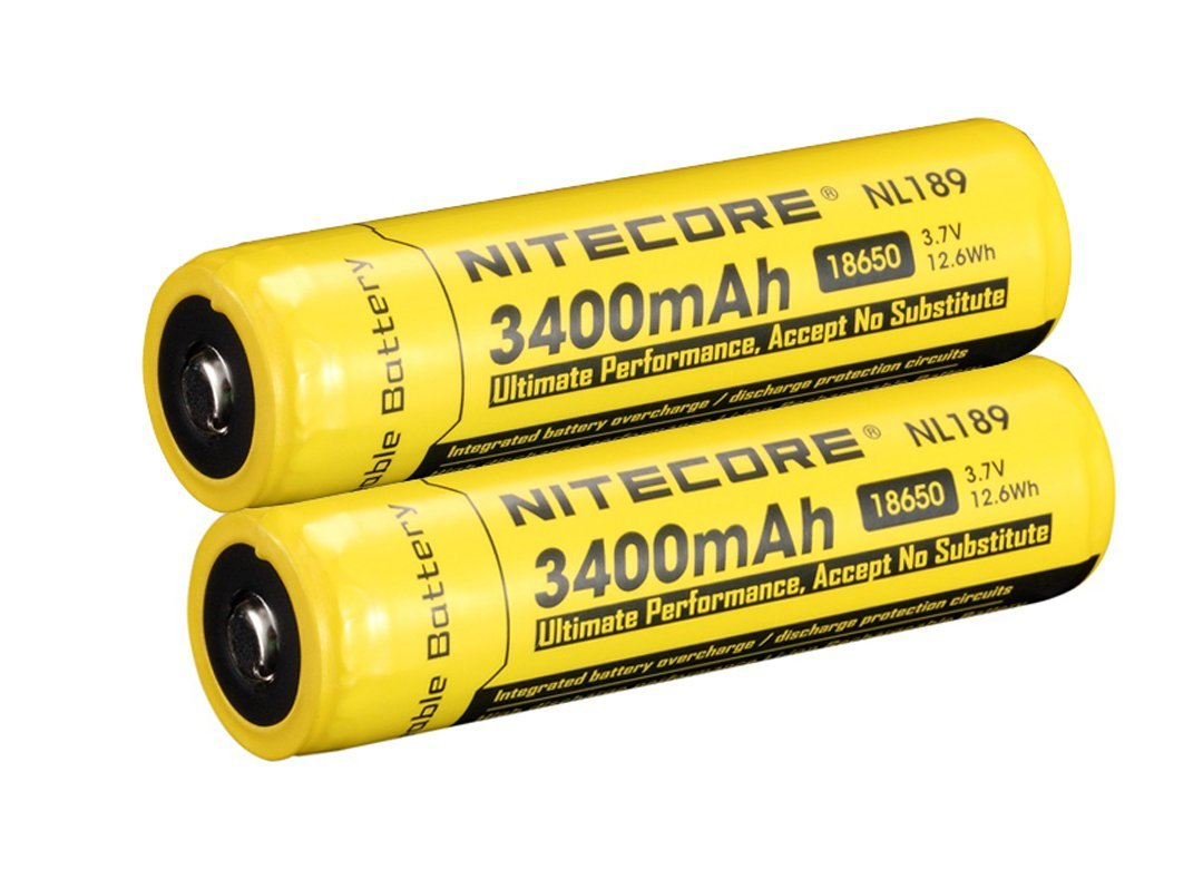 Nitecore 3.7V Protected Li-ion Rechargeable Batteries