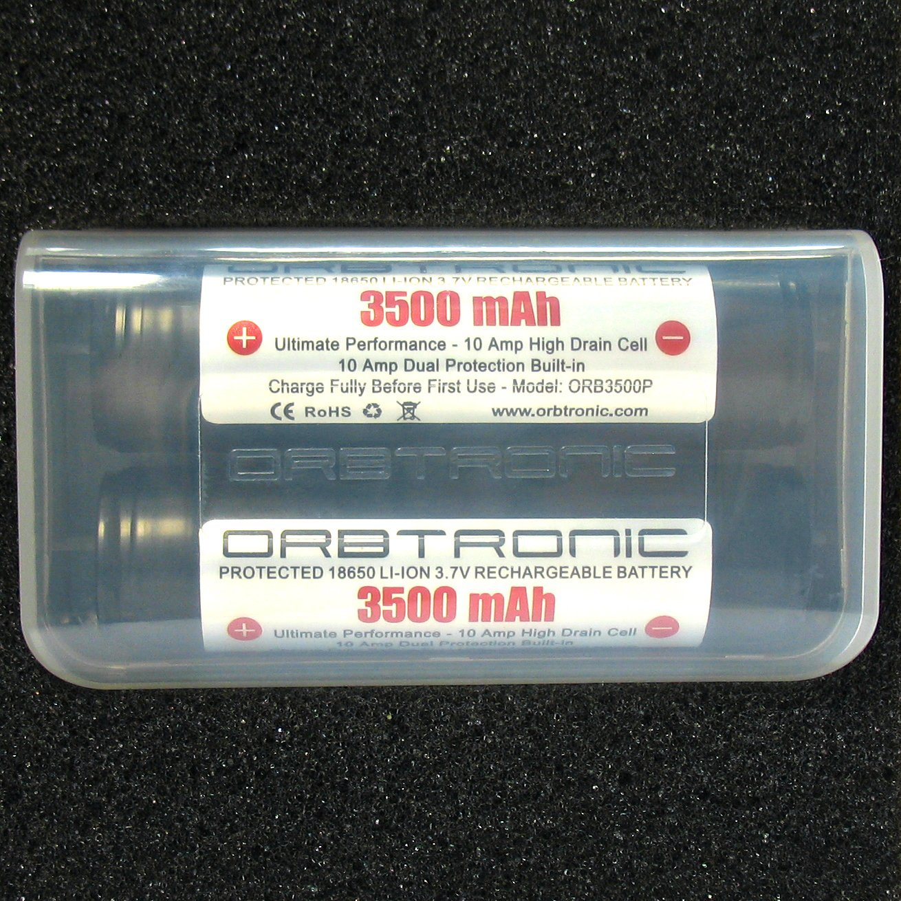 ORBTRONIC Protected 3.7V Rechargeable Li-ion Batteries