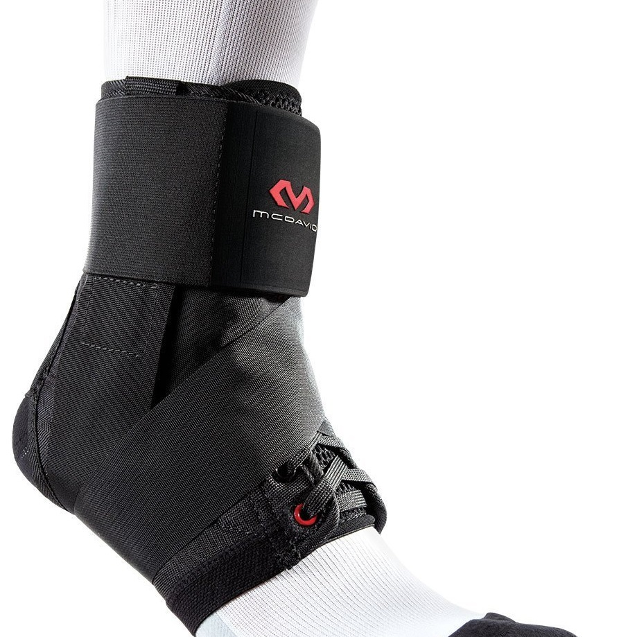 McDavid Ankle Brace with Stabilizer Straps – Neoprene with Velcro Closure, Choice of Grey or Black