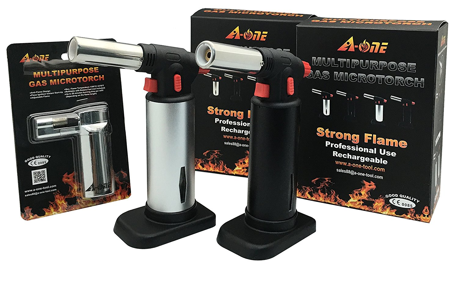 A-One Gas Tool Gas Kitchen Food Torch 3 in 1 Set