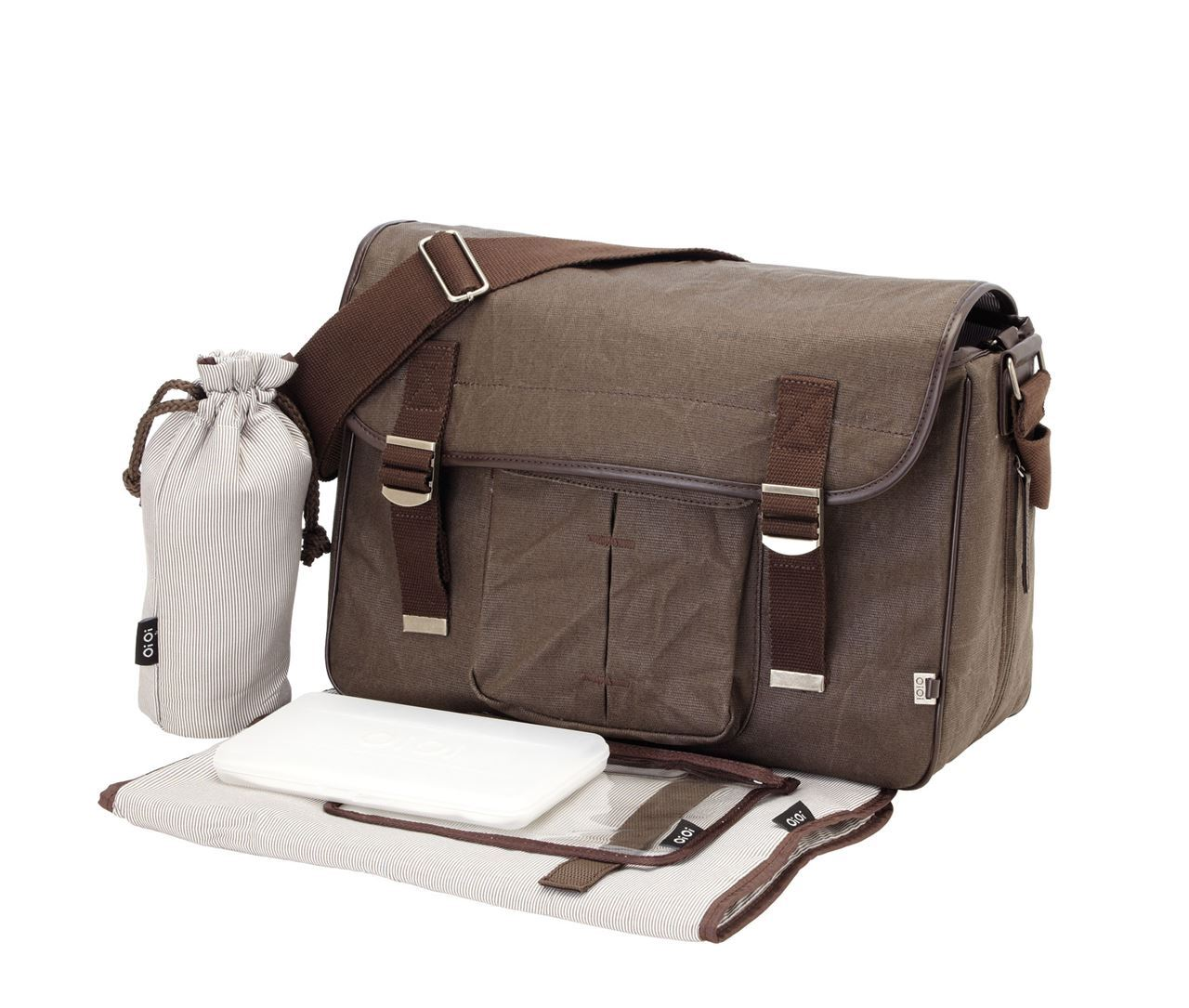 OiOi Men's Satchel Diaper Bag – Available in Wax Canvas or Leather – Women Love Them Too!