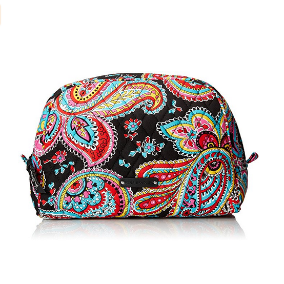 Vera Bradley Large Zip Cosmetic Case – Available in Multiple Colors