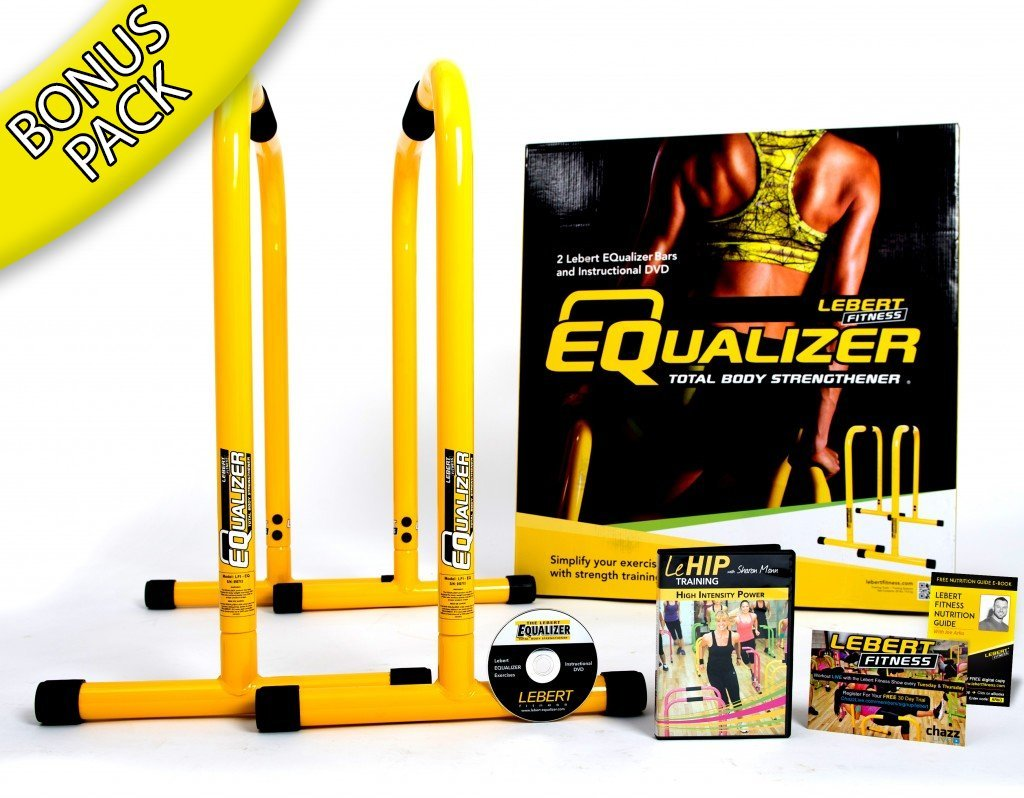 Lebert Fitness Equalizer Total Body Strengthener Dip Stand & More