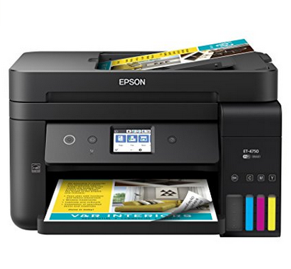 Epson Workforce All-in-One Wireless Fax Machine, Printer, Copier & Scanner - EcoTank SuperTank Inket Color Printer
