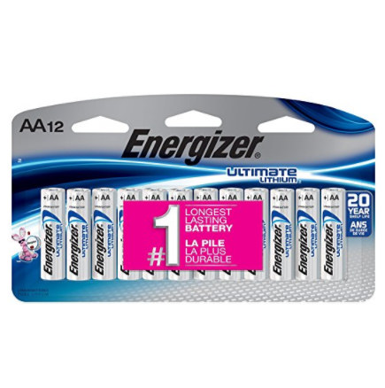 Energizer Ultimate Lithium AA Batteries – Variety of Package Sizes Available
