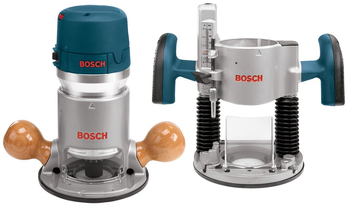 Bosch Plunge and Fixed Base Variable Speed Router Kit 12 Amp 2-1/4-Horsepower – Available in 4 Designs