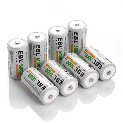 EBL C Size Rechargeable Batteries