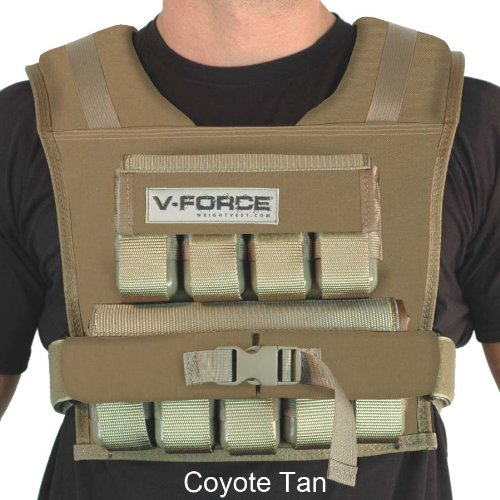 V-Force Workout Weight Vest Up to 45 lbs – Made in USA, One Size Fits All with Choice of Wide and Narrow, Available in 7 Colors