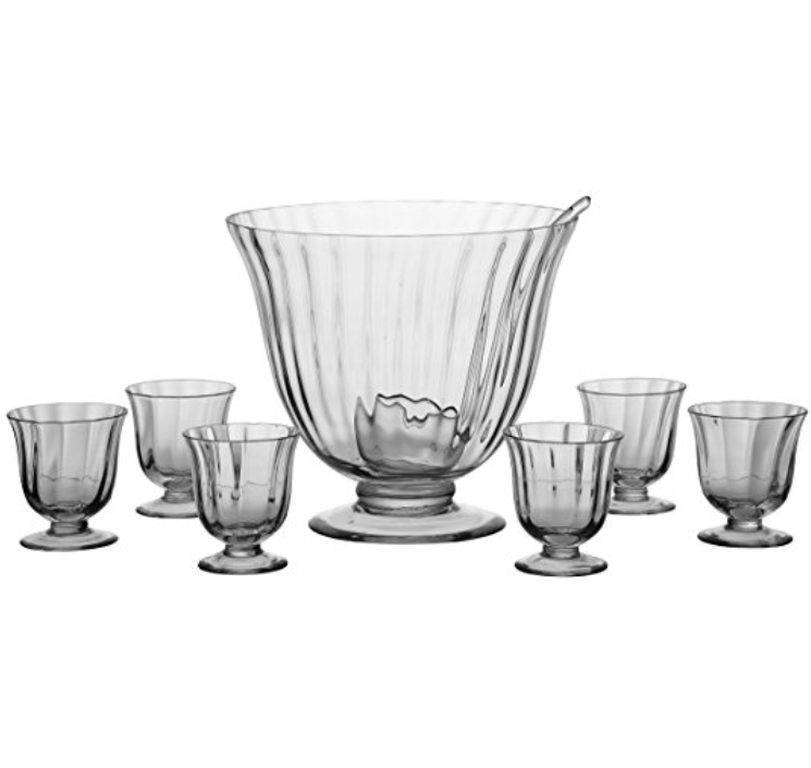 Artland 8-Piece Handcrafted Punch Bowl Set  - Comes with Glasses and Ladle