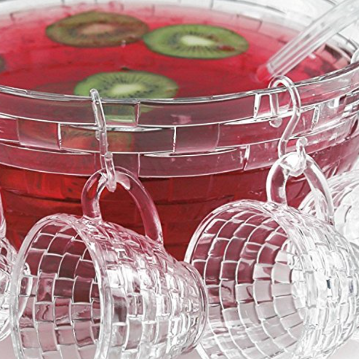 Brilliant Large 18-Pc Punch Bowl Set