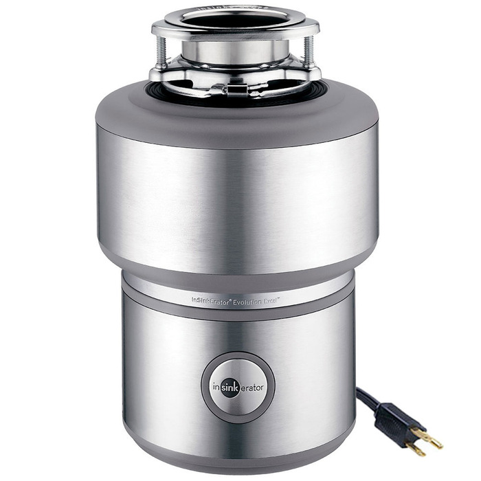 InSinkErator Evolution Excel® Garbage Disposal - Continuous Feed with 1.0 HP Dura-Drive® Induction Motor