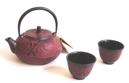 Happy Sales Cast Iron Tea Pot Tea Set