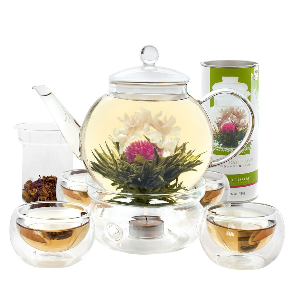 Teabloom Blooming Tea Set with Glass Teapot