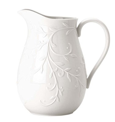 Lenox Opal Innocence Carved Pitcher
