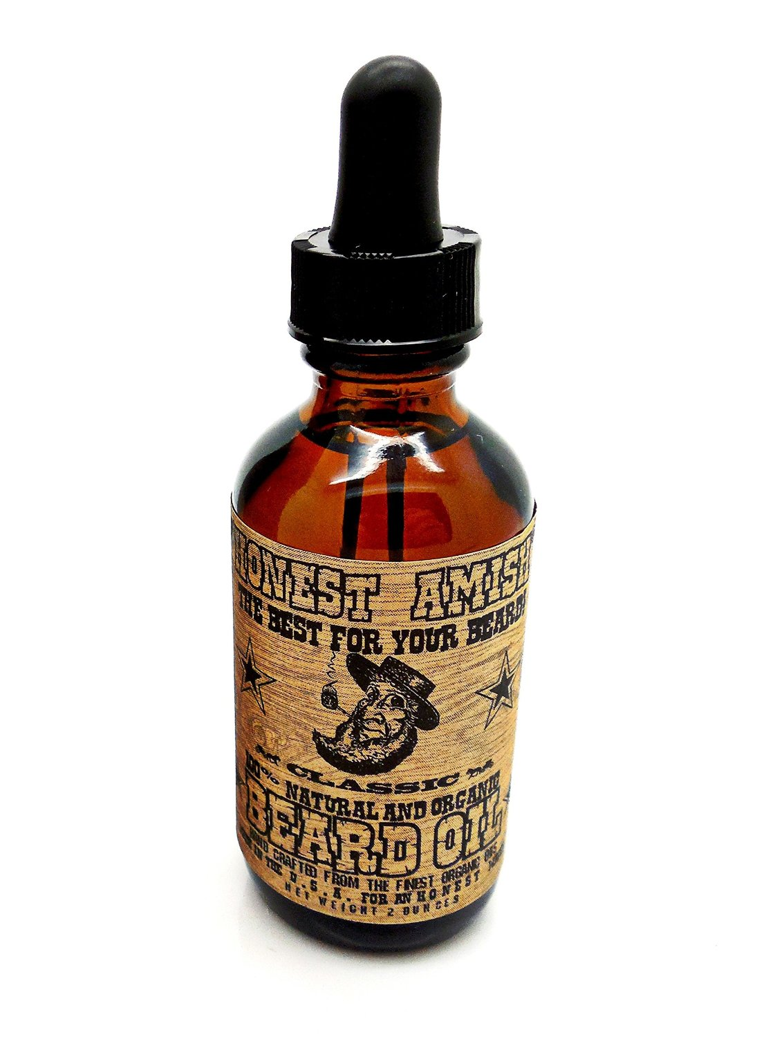 Honest Amish Classic Beard Oil – All Natural, Organic and Vegan, Handcrafted in USA