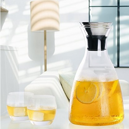 Hiware Hot and Cold Drip Free Glass Carafe