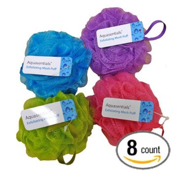 Aquasentials 8 Pack Mesh Bath Puff