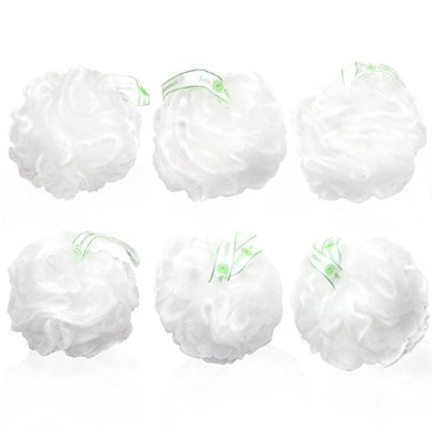 Lulu Essentials 6 Pack Snow White Loofahs