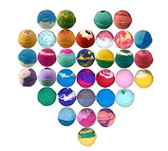 Amor 10-Pack Large Bath Bombs