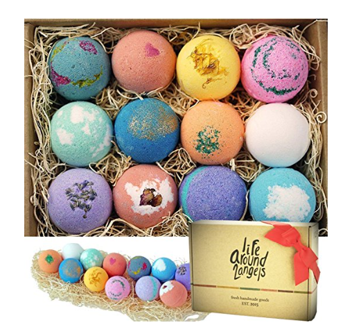 LifeAround2Angels 12-Pack Bath Bomb Gift Set