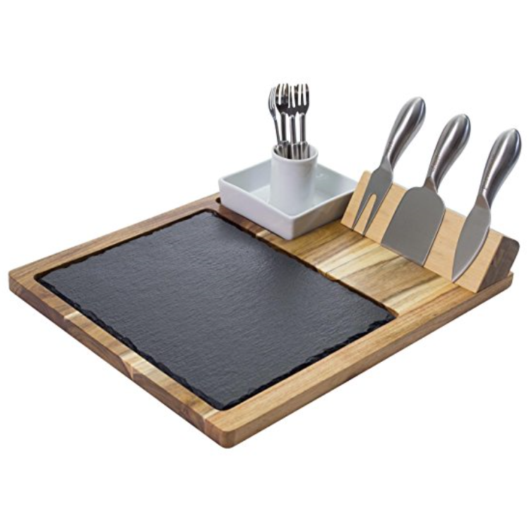 Zelancio Slate Cheese Board with Tools