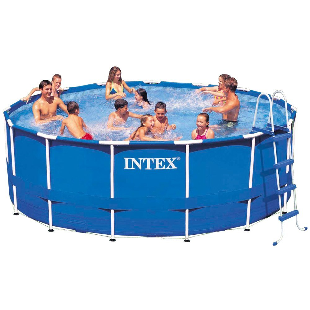 Intex Metal Frame Above Ground Swimming Pool Set
