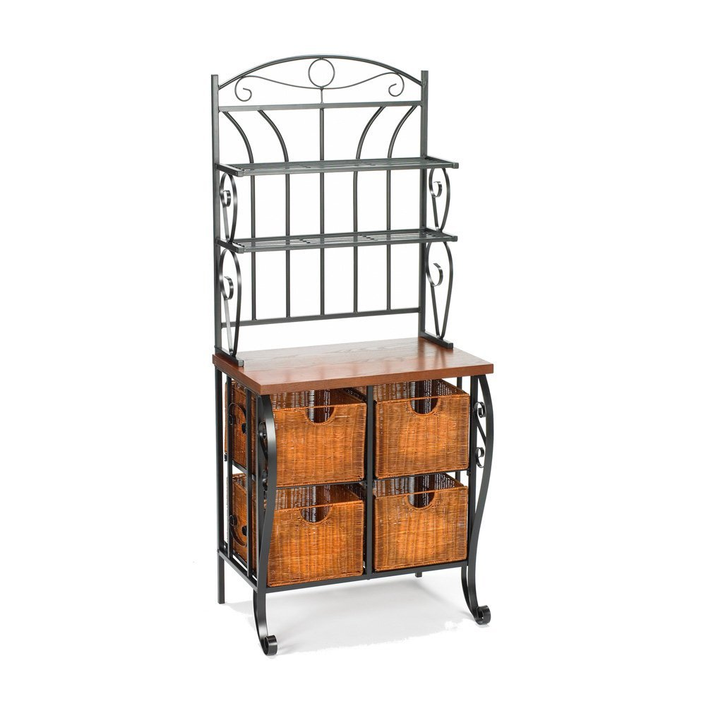 SEI Baker's Rack with Storage Baskets