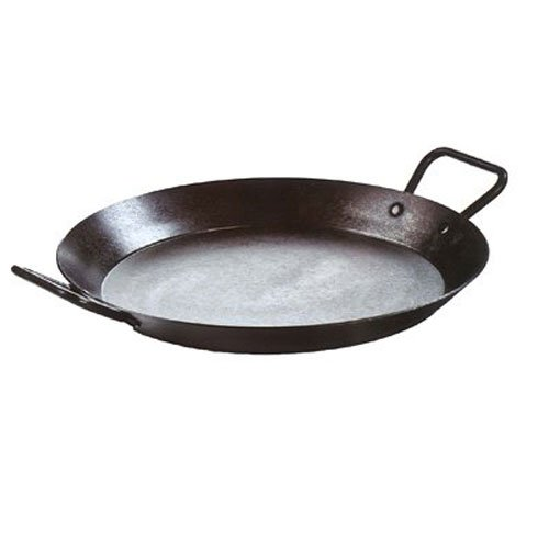 Lodge Pre-Seasoned Paella Pan and Skillet