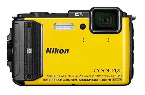 Nikon COOLPIX AW130 Waterproof Digital Camera with Built-In Wi-Fi, NFC and GPS, Available in 3 Colors
