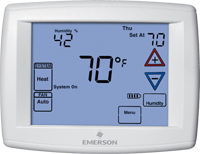 "White-Rodgers/Emerson Universal Touchscreen 7-Day Programmable Digital Thermostat - 12"" Display"