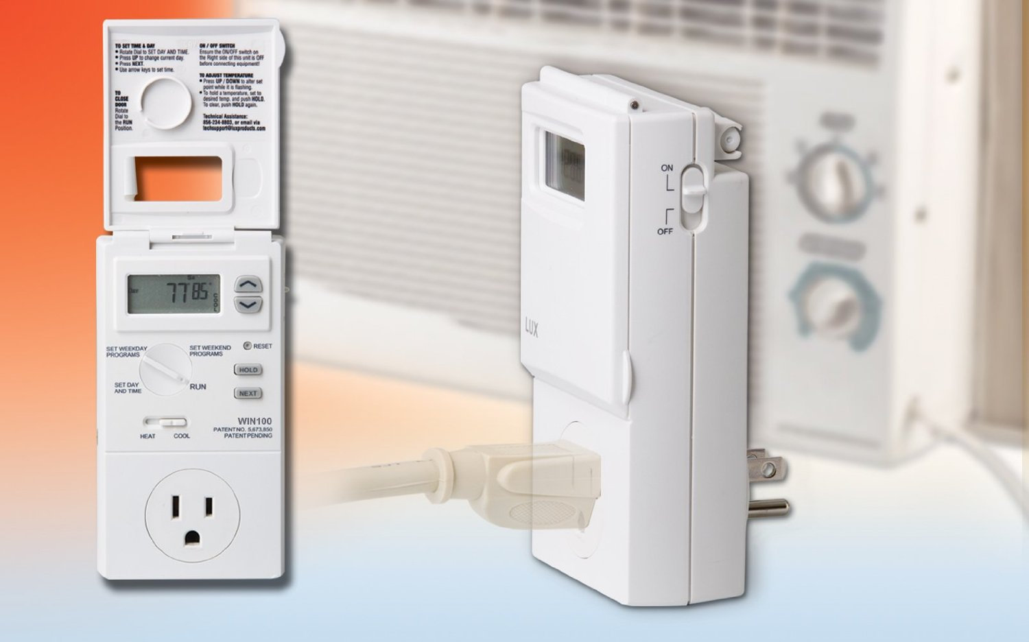 Lux WIN100 Programmable Outlet Thermostat