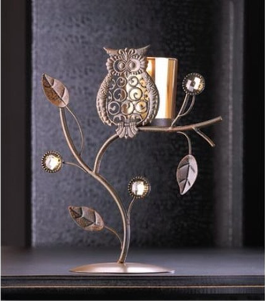 Gifts & Décor Owl Candle Holder