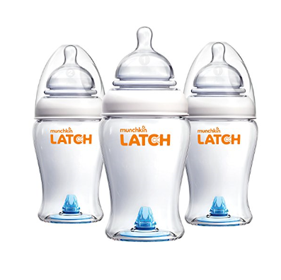 Munchkin LATCH™ BPA-Free Baby Bottle – Available in 4 or 8oz. & Different Pack Sizes