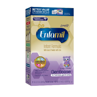 Enfamil Gentlease Baby Formula – Available in Powder or Liquid & 7 Sizes