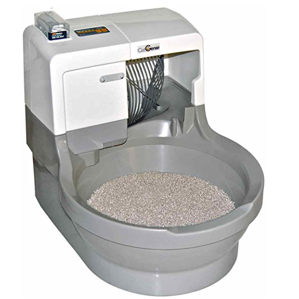 CatGenie Self-Washing Self-Flushing Automatic Self Cleaning Litter Box