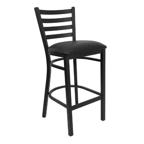 Flash Furniture Series Black Ladder Back Metal Restaurant Bar Stool – Available in 5 Colors